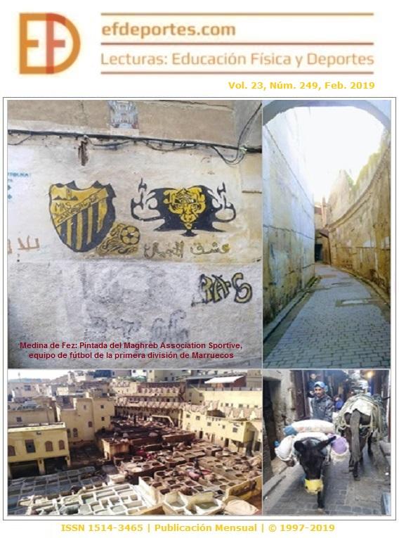 Medina de Fez: Pintada del Maghreb Association Sportive (MAS), equipo de fútbol de la primera división de Marruecos