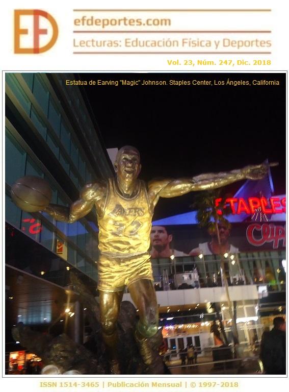 "Estatua de Earving ""Magic"" Johnson. Staples Center, Los Ángeles, California"